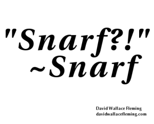 Typographic Tweet - Snarf - David Wallace Fleming